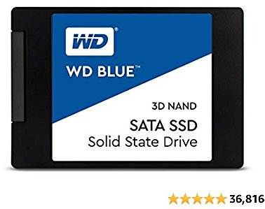 Western Digital 2TB WD Blue 3D NAND Internal PC SSD - SATA III 6 Gb/s, 2.5
