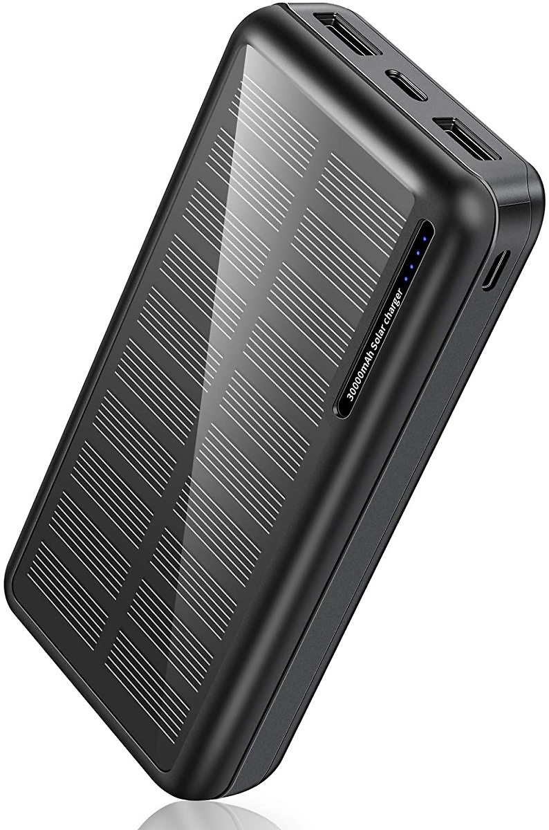 30,000mAh Solar Charger Power Bank with 2 USB Outputs