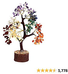 Amazon : Crocon Seven Chakra Natural Healing Gemstone Crystal Bonsai Fortune Money Tree For $24.99
