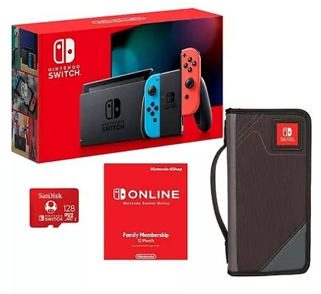 Nintendo Switch All-in-One Bundle with Carrying Case, 12-Month Gaming Membership and 128GB Memory Card (Choose a Color) - Sam's Club