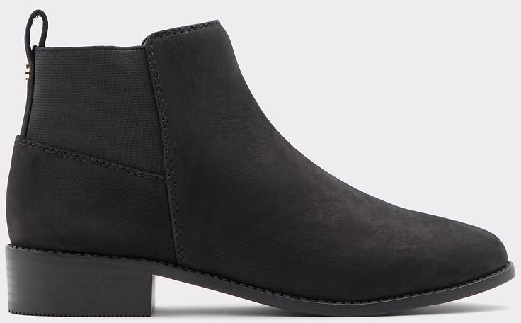 Astauma Black Leather Nubuck Women's Boots | ALDO US