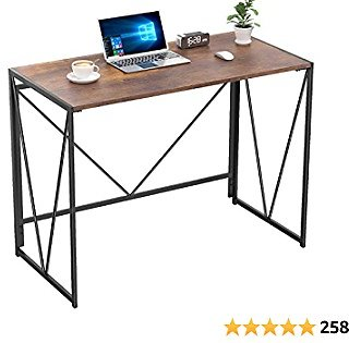 NOBLEWELL Folding Computer Desk 39 Inch, Foldable Working Writing Study Desk for Home Office