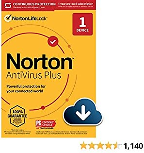 Norton AntiVirus Plus 2021 – Antivirus Software for 1 Device with Auto-Renewal - Includes Password Manager, Smart Firewall and PC Cloud Backup [Download]