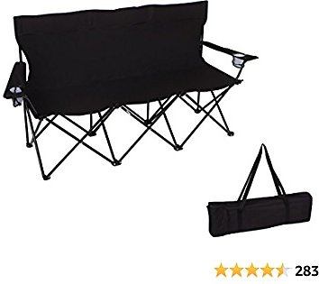 Trademark Innovations Triple Style Tri Camp Chair with Steel Frame