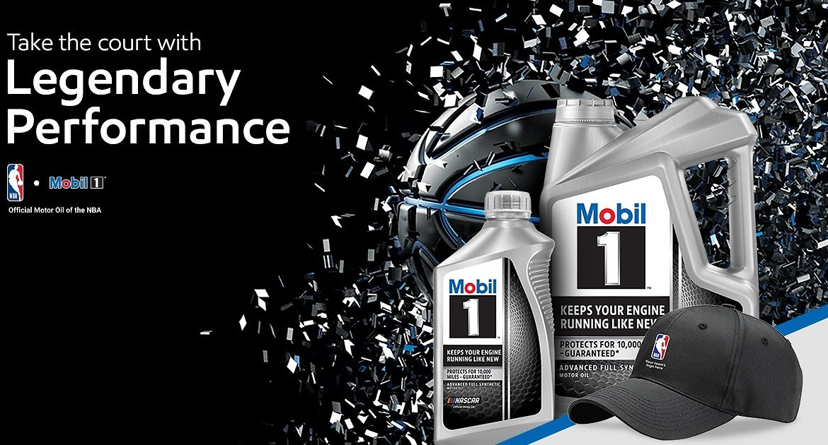 Free NBA Hat With Mobil Oil Purchase!