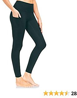 LOOGU Leggings for Women, High Waisted Tummy Control Yoga Pants, 4 Ways Stretch with Pockets Running Workout Pants