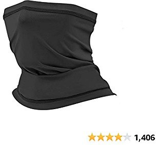 AstroAI Neck Gaiter Face Mask, Reusable Bandana Face Mask, UV Protection Face Cover, Dustproof Balaclava Face Scarf for Men Women, Ideal for Motorcycle, Hiking, Running, Cycling, Black