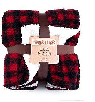 Super Soft Buffalo Plaid Double Layer Sherpa Throw Blanket