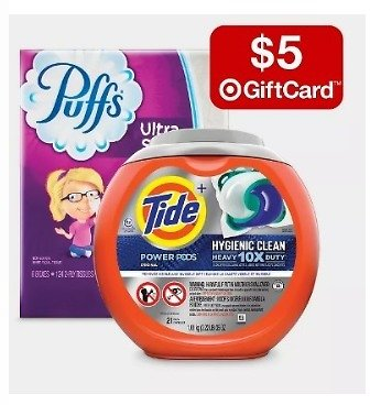 Free $5 Gift Card w/ 2 Household Essentials