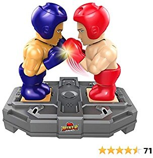 Betheaces Kids Boxing Game Toys, Novelty Induction Boxing Robot Toy Xmas Gifts for Boys Girls Amusement Toy Upgraded Playset for Indoor Outdoor Travel
