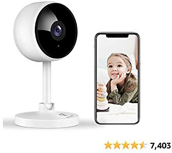 Littlelf Home Security Camera, 1080P WiFi Indoor Camera, Baby Monitor with Night Vision, Motion Detection, 2 Way Audio Smart Surveillance Camera for Pet/Baby, Cloud & SD Card Storage Works with Alexa