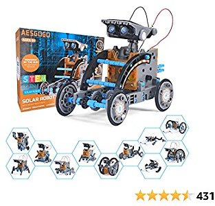 AESGOGO STEM Projects for Kids Ages 8-12,Solar Robot Kit,Science Kits Building Toys Easter Gifts for 8 9 10 11 12 Year Old,STEM Activities Experiments Robotics Kits for Boys Teens Girls Ages 8-15