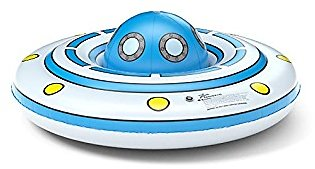 Jasonwell UFO Inflatable Pool Float Floatie Pool Tube with Detachable Ball Large Blow Up Summer Beach Swimming Pool Party Lounge Raft Toys for Kids