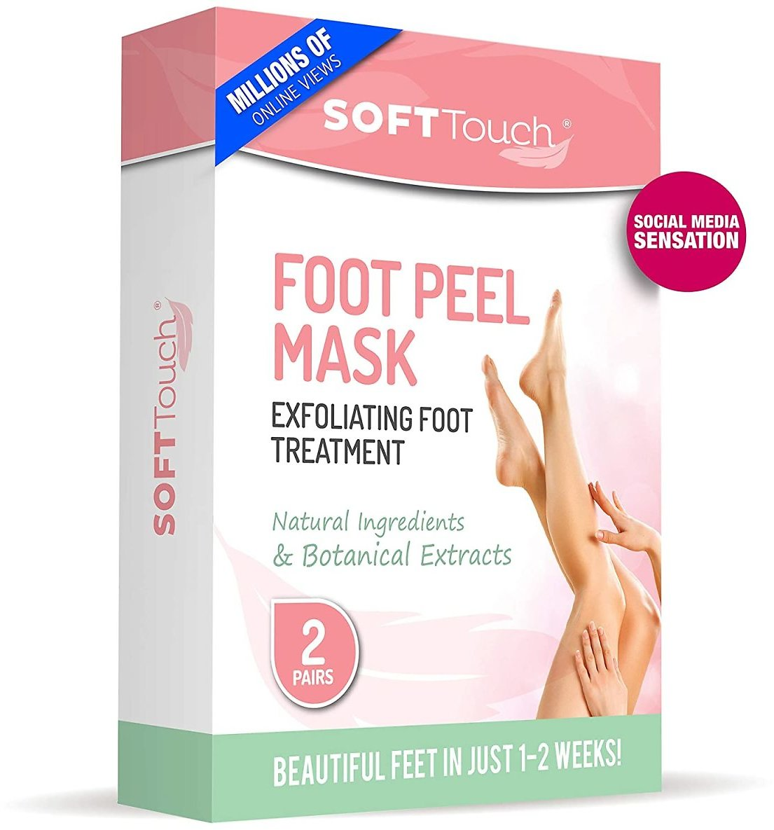 2 Pack Foot Peel Mask - Natural Foot Care Exfoliating Treatment for $19.96 After Coupon