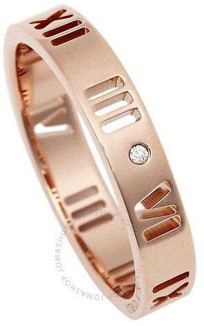 Ladies Atlas 18k Rose Gold Pierced Ring