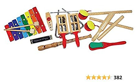 Melissa & Doug Deluxe Band Set with Wooden Musical Instruments & Storage Case (Frustration-Free Packaging)