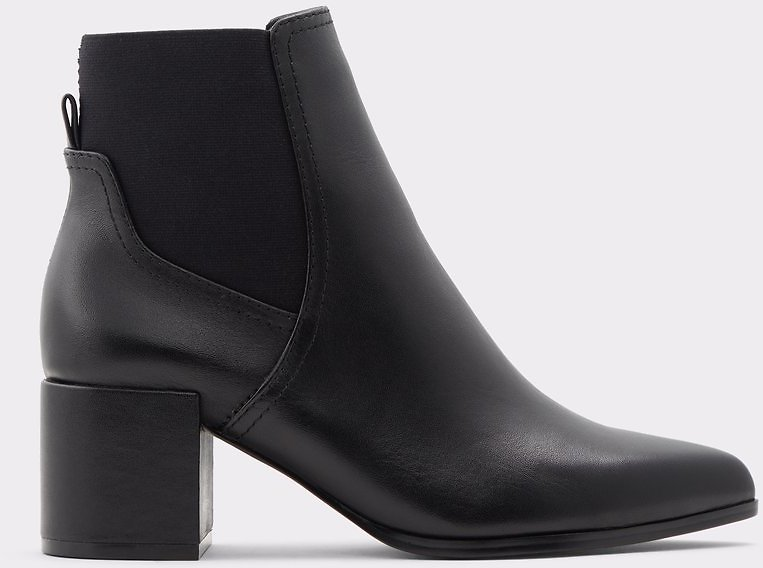 Benzema Black Leather Smooth Women's Ankle Boots | ALDO US