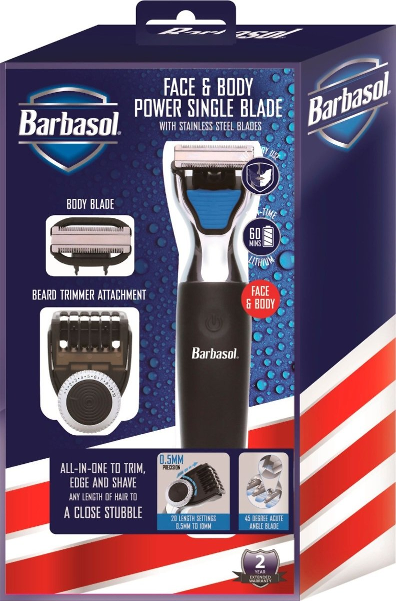 Barbasol Rechargeable Power Single Blade Wet/Dry Electric Shaver/Beard