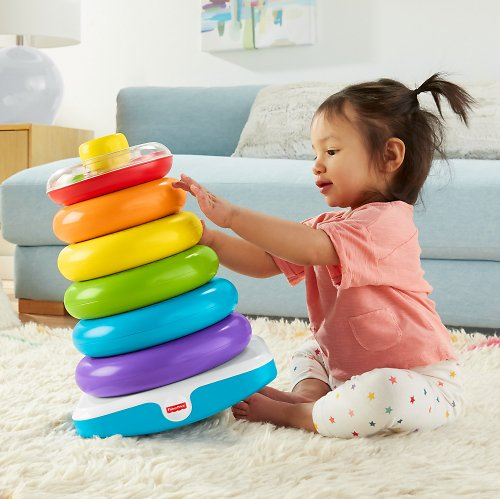 Fisher-Price Giant Rock-a-Stack w/ 6 Colorful Rings