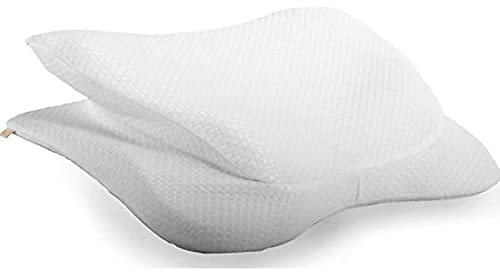 Copper Fit Angel Ultimate Memory Foam Pillow for Side and Back Sleepers, White, Queen/Standard