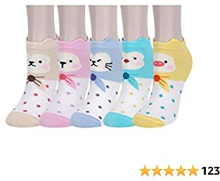 Benefeet Sox Women Girl Cute Funny Crazy Colorful Ankle Sock Novelty Cartoon Animal Food Patterned Cotton Low Cut Liner Gift