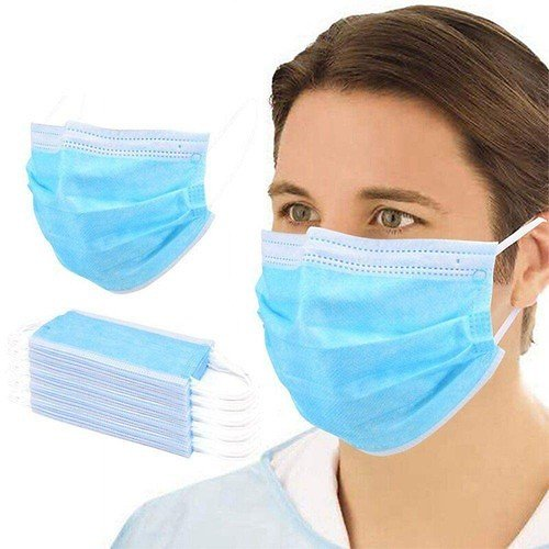 100PCS Medical Surgical Disposable Masks 3-Layers Protective EO Sterilization BFE 95% Filtration With CE Certified Safety Mouth Mask