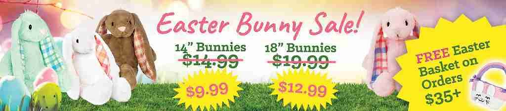Plush Bunnies for Easter