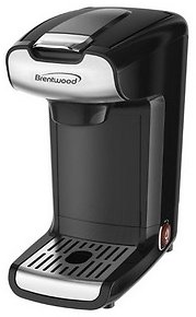 Brentwood TS110BK 10 Ounce K-Cup Single Serve Coffee Maker in Black