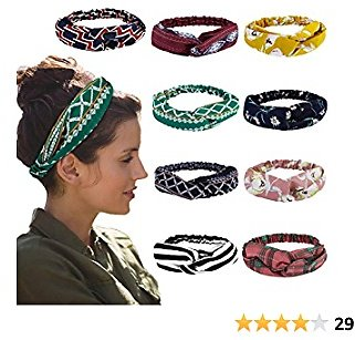 Get 50%Off 9 Pack LIVE4COOL Boho Headbands for Women Meartchy Floral Vintage $6.99@Amazon