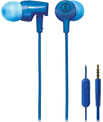 Audio Technica ATH-CLR100iSBL SonicFuel In-ear Headphones with In-line Mic & Control