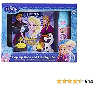 Disney Frozen Elsa, Anna, Olaf, and More! - Pop-up Book and Flashlight Toy Set