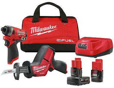 Milwaukee 2593-22 M12 FUEL Impact Driver/HACKZALL Recip Saw Combo Kit New 45242574278