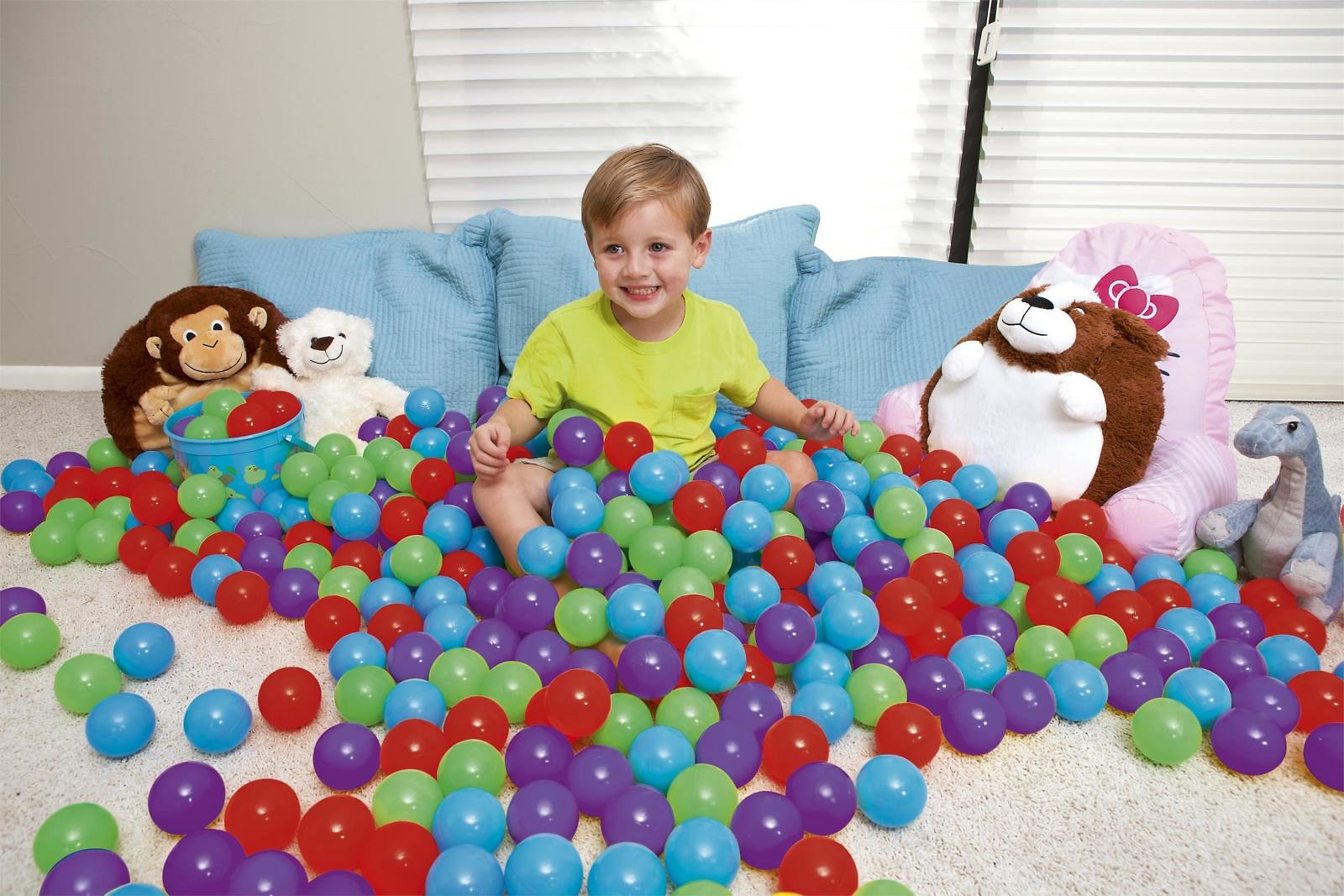 Up, In & Over Play Balls - 100 Count, Multicolor