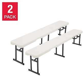 2-pack CORE 6' Fold in Half Bench