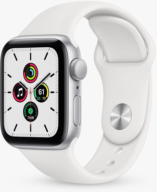 Apple Watch SE (GPS) 40mm Silver Aluminum Case with White Sport Band Silver MYDM2LL/A
