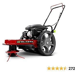 EARTHQUAKE 28463 M205 Trimmer with 150cc 4-Cycle Viper Engine Walk Behind String Mower, Red/Black