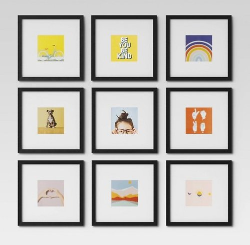 9-Pc Room Essentials Gallery Wall Frames