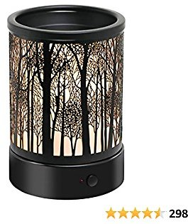 Hituiter Electric Wax Melt Warmer with Timer Fragrance Warmer for Scented Wax Melts Classic Timing3/6/9 H Night Light Design Home Accessories (Timer Warmer)