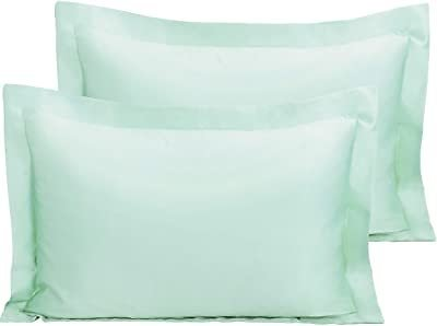 NTBAY Satin Pillow Shams, 2 Pack Super Soft and Luxury Pillow Cases, Queen Size, Cyan: Home & Kitchen