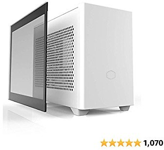 Cooler Master NR200P White SFF Small Form Factor Mini-ITX Case with Tempered Glass