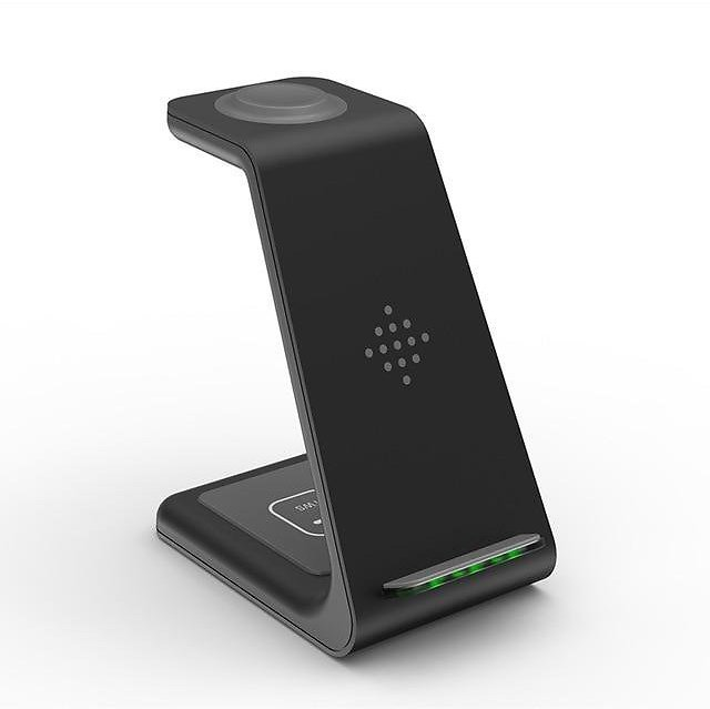 Wireless Charging Stand, 3 in 1 Fast Wireless Charger Station Dock Compatible with Apple Devices