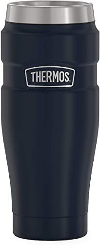 Thermos Stainless King Travel Tumbler, 16 Ounce, Matte Blue