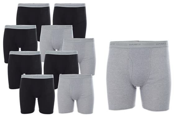 10-Pack Hanes Boxer Briefs 52% Off