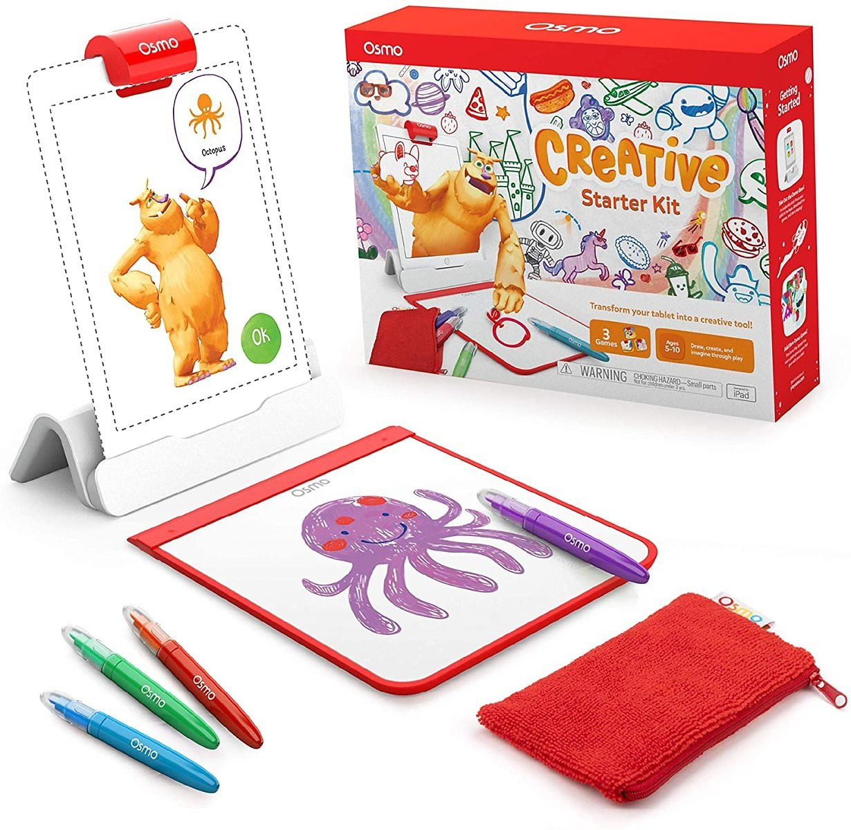 30% OFF - Creative Starter Kit for IPad - 3 Educational Learning Games - Ages 5-10 - Drawing, Word Problems & Early Physics