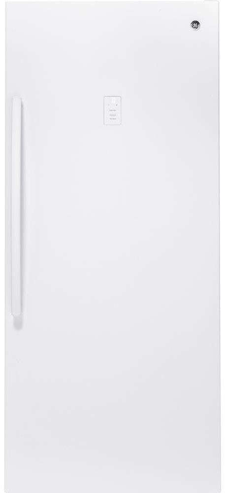 GE Garage Ready 21.3 Cu. Ft. Frost Free Upright Freezer in White-FUF21SMRWW