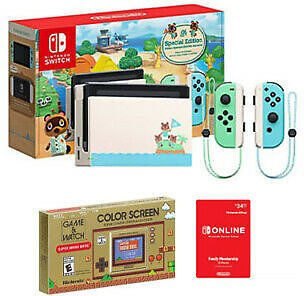 Nintendo Switch Animal Crossing: New Horizons Special Edition Console Bundle