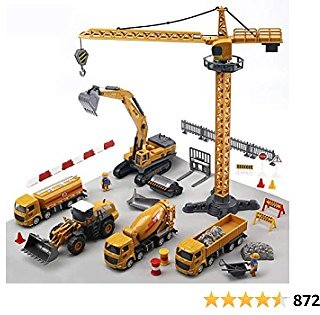 CUTE STONE Alloy Construction Vehicles Truck Toy Set