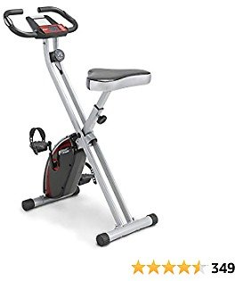 CIRCUIT FITNESS Circuit Fitness Folding Upright Exercise Bike with Adjustable Resistance 250 Lb. Max. Capacity AMZ-150BK