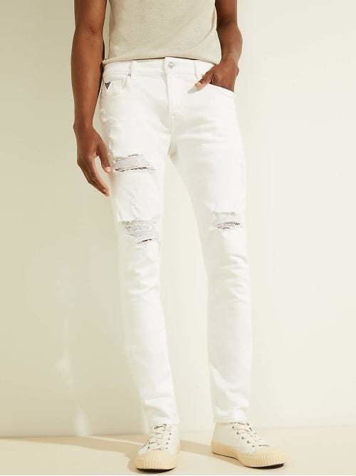 Guess,Destroyed Painter's Skinny Jeans