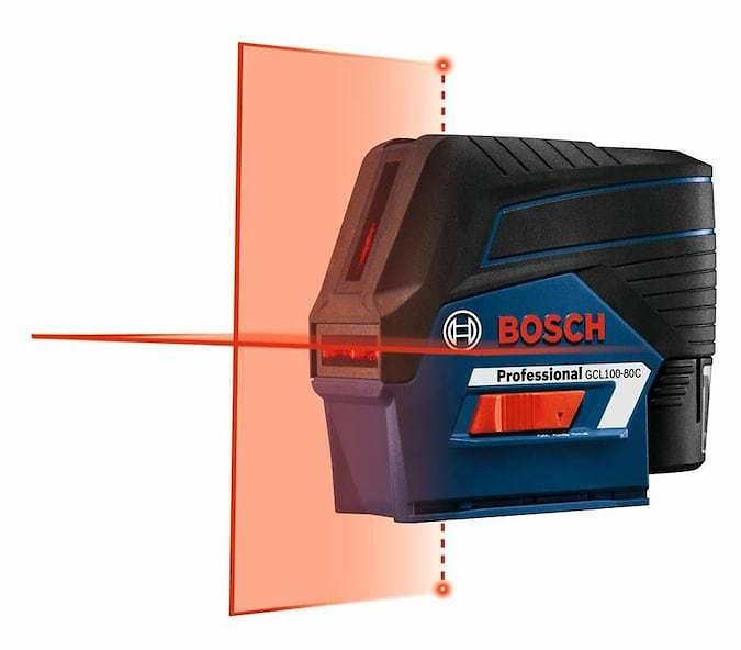 Bosch VisiMax 100-ft Red Beam Self-Leveling Cross-line Cross Laser Level with Plumb Points and Level